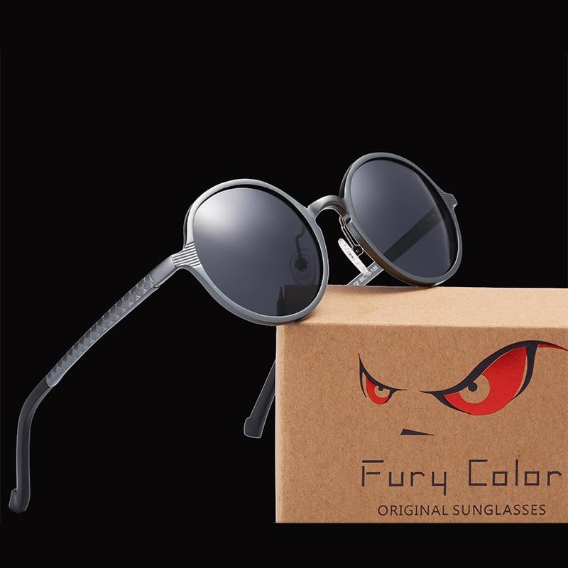Aluminium Magnesium HD retro Polarized Sunglasses retro round Men women classic Driving Sun Glasses Masculino Male gafas Oculos