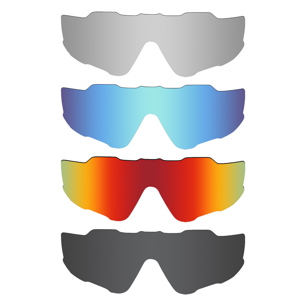 811cdd0c4c 4 Pieces MRY POLARIZED Replacement Lenses for Oakley Jawbreaker Sunglasses  Stealth Black   Ice Blue   Fire Red   Silver Titanium