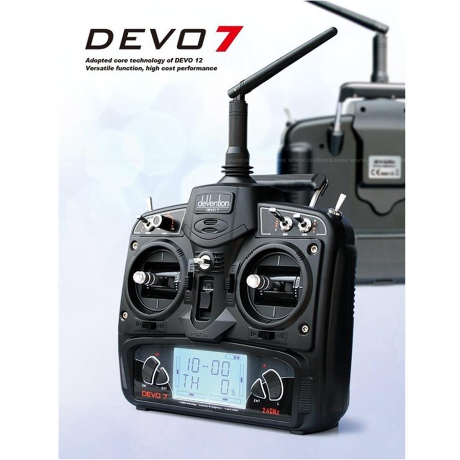 Walkera DEVO7 DEVO 7 Радиоуправляемый Дрон Дистанционное управление передатчик 7 канала DSSS 2.4 г transmiter RX701 приемник для Heli Quadcopter