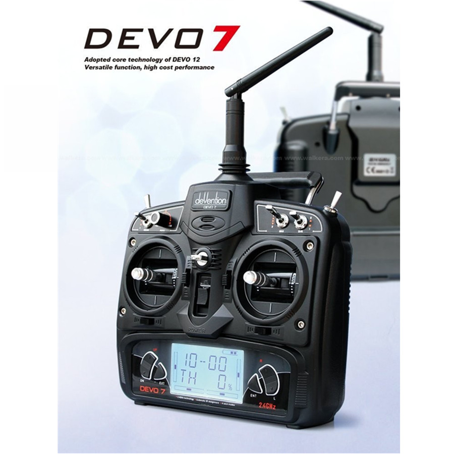 Walkera Devo7 DEVO 7 RC drone Remote Control Transmitter 7 Channel DSSS 2.4G Transmiter RX701 Receiver for Heli quadcopter walkera devention devo 10 2 4ghz 10ch telemetry rc transmitter for rc quadcopter