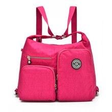 Hot Fahion Women Handbag solid travel waterproof nylon bag women ladies femininas bolsa fashion clutch tote