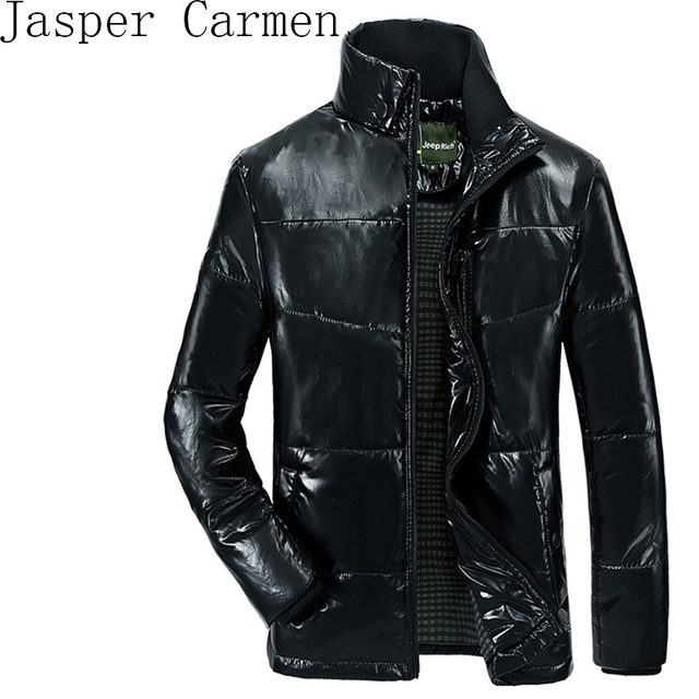 In the winter of 2017 new Jeep Rich men's hands stuffed cotton padded jacket leather collar free shipping Z119
