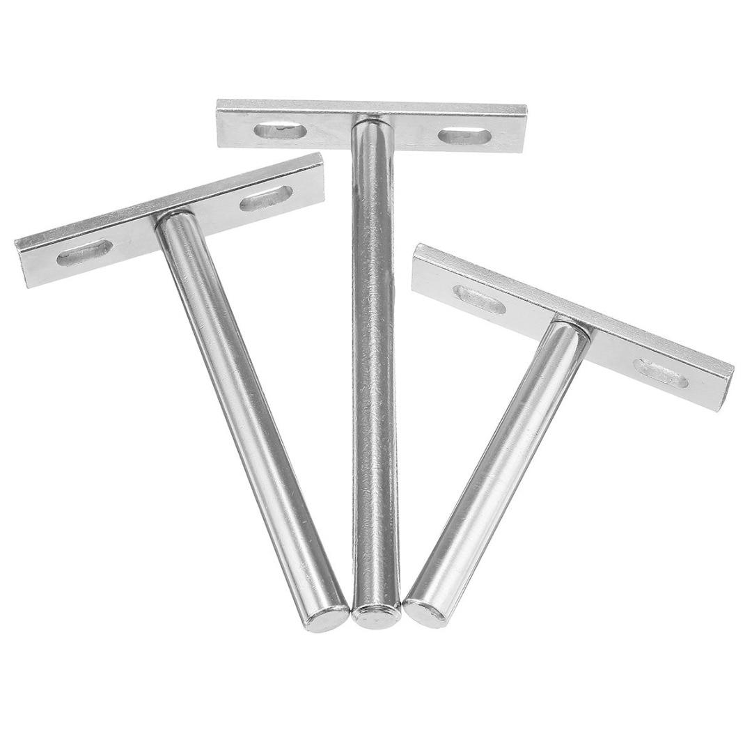 10pcs Floating Shelf Brackets Wall Mount Concealed Furniture Support Holder Kits