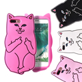 Kisscase bolso dos desenhos animados cat phone case para iphone 6 6 s 7 plus 5S se capa animal de borracha macia capa para iphone 7 6 6 s mais fundas