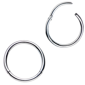 Image 1 - 18g 16g 14g  G23 Titanium Nose Rings Piercings Septum Rings Hinged Clicker Segment Nipple Rings Piercing Nose Jewelry