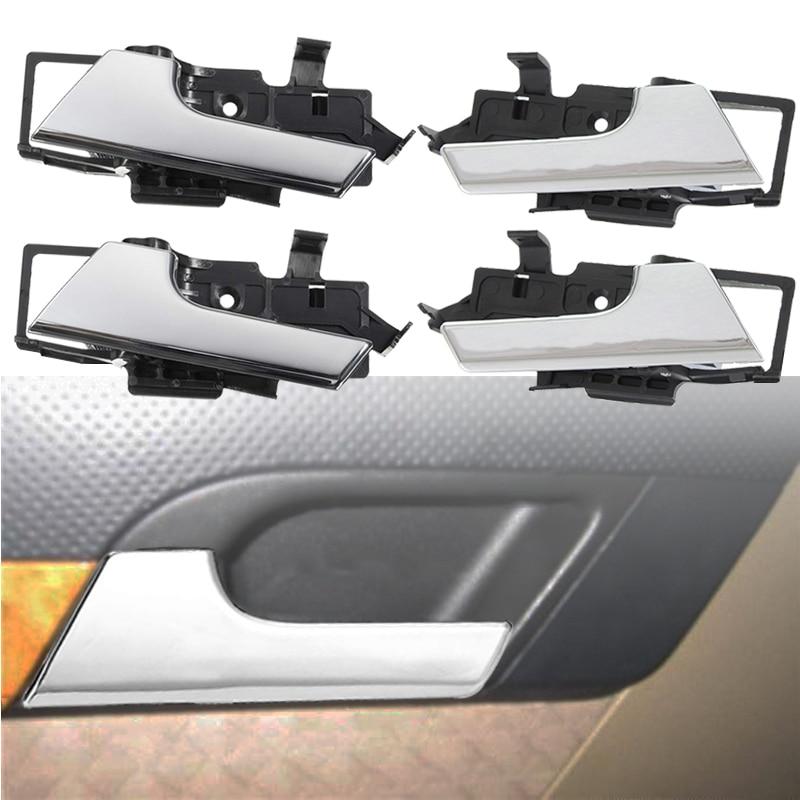 Set 4pcs Inside Door Handles Chrome 96462709 NEW FOR Chevrolet Aveo Aveo 5 Pontiac Wave Hatchback 2008 2009 2010 2011