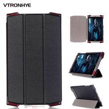 Case For Acer Predator 8 Solid Folding Stand Flip PU Leather Case for Acer Predator 8.0 inch Tablet Protective Case +Stylus Pen