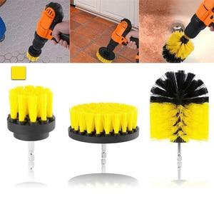 Image 5 - Perceuse électrique de nettoyage, pour cuir et plastique, intérieur de voiture, brosse de nettoyage, 3 pièces, 2/3, 5/4 pouces