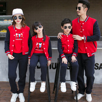 Family Clothes 2017 New Children S Clothes Long Sleeves Baseball Suits Family Clothes Mom And Dad