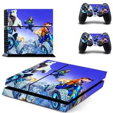 Crash Team Racing Nitro Fueled CTR PS4 Skin Sticker Decal For PlayStation 4 Console and 2 Controllers PS4 Skin Vinyl Stickers