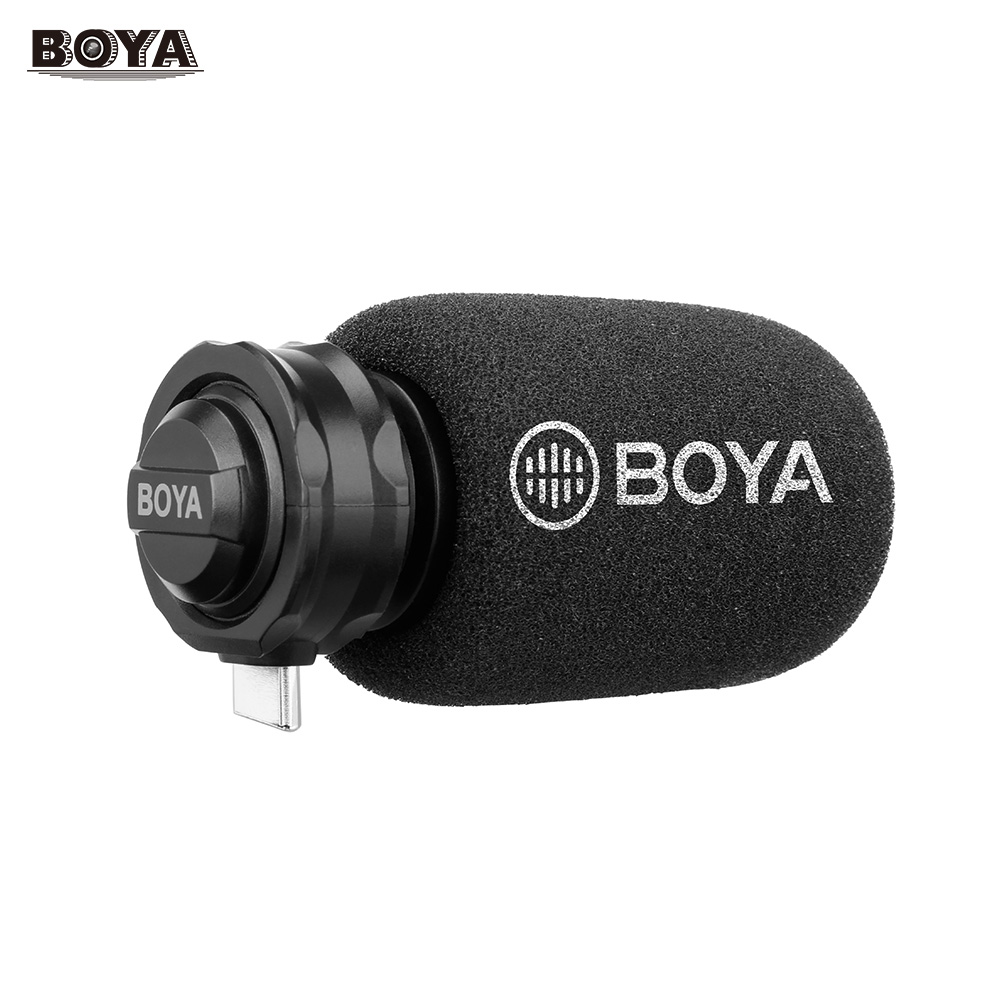 BOYA BY DM100 Digital Stereo Cardioid Condenser Microphone Superb Sound for Android USB Type C Devices