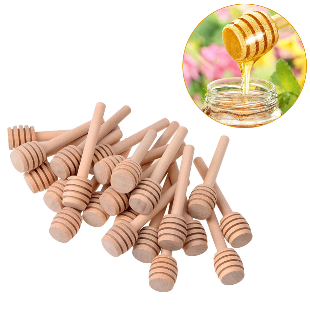 6/12/24 Pack Wooden Stirrers Honey Dipper Wood Honey Spoon Stick For Honey Jar Stick Collect And Dispense Honey Tools