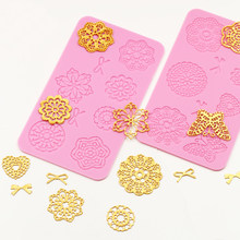 butterfly catch flowers lace cooking tools Silicone Fondant Paste Mold DIY Cake Decorating Polymer Clay Resin Candy Fimo Sculpey(China)