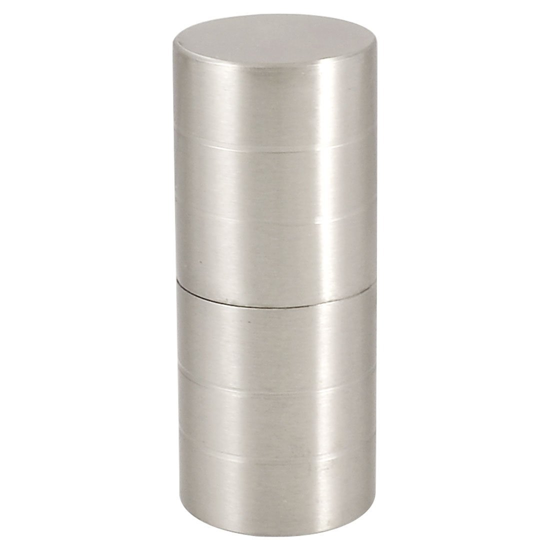 """5x Silver Tone Shower Room Door 1.5"""" Dia Stainless Steel Cylindrical Knob Handle"""