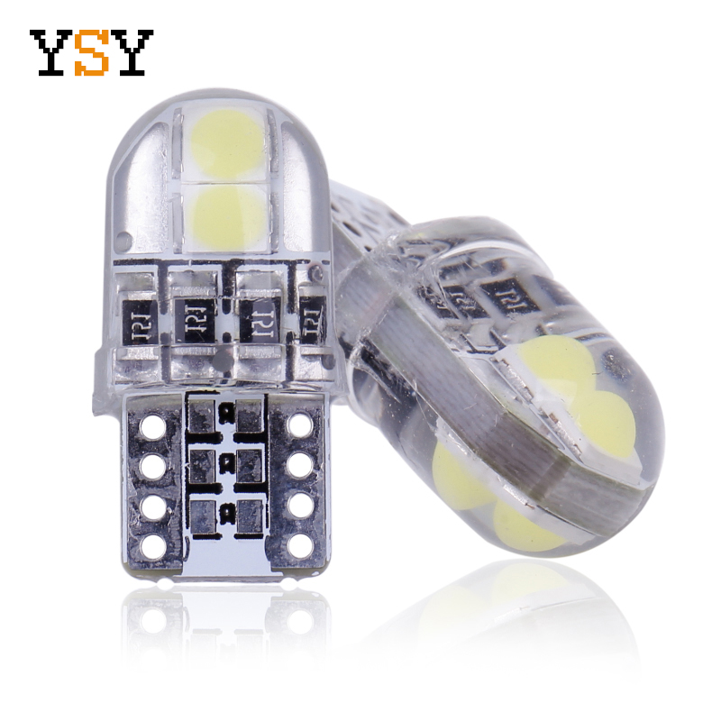 800pcs T10 194 168 Interior Dome Map Lights 3030 4SMD LED 12V Silicone Car Side Wedge