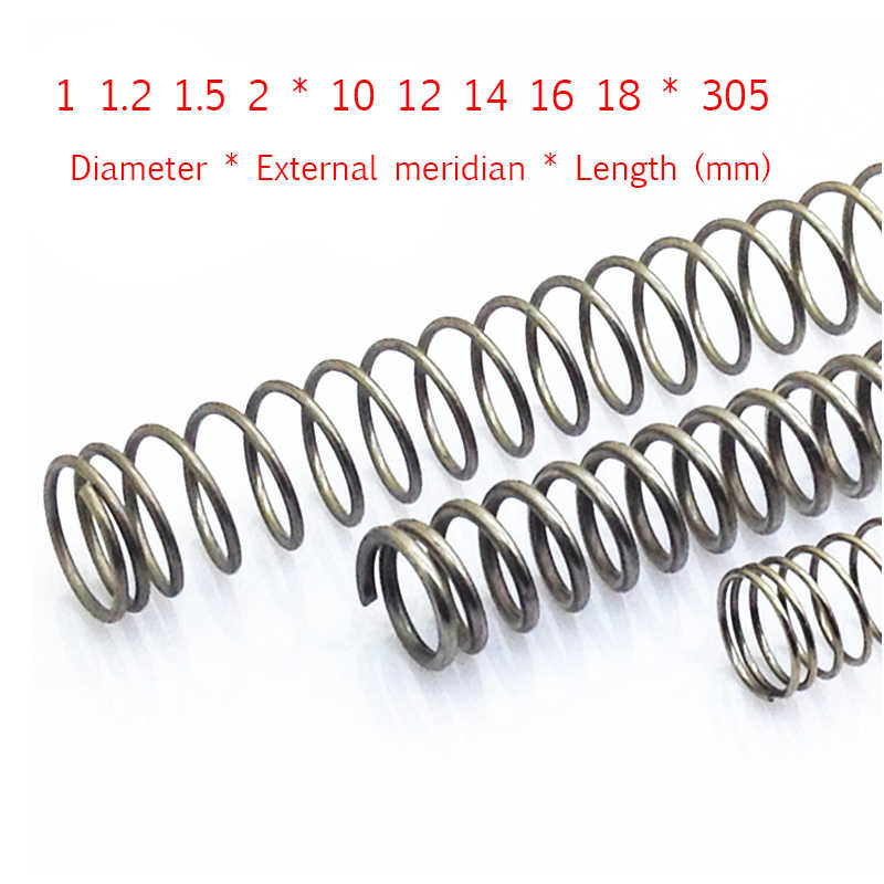 A Stainless steel pressure spring Y-type Compression Spring Diameter * External meridian * Length 1 1.2 1.5 2*10 12 14 16 18*305