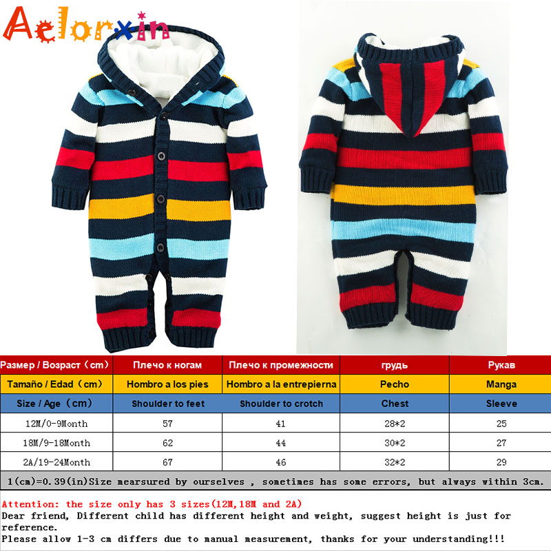 5607e6517388 Winter Newborn Baby Romper Boys Girls Rompers Jumpsuit Warm Thick Knitted  Sweater Hooded Outwear Climbing Clothes-in Rompers from Mother   Kids on ...