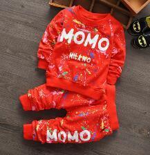 2016 мода Новый мальчиков комплект одежды весна/осень дети хлопок спортивный костюм набор детей пальто + брюки 2 шт. одежда набор