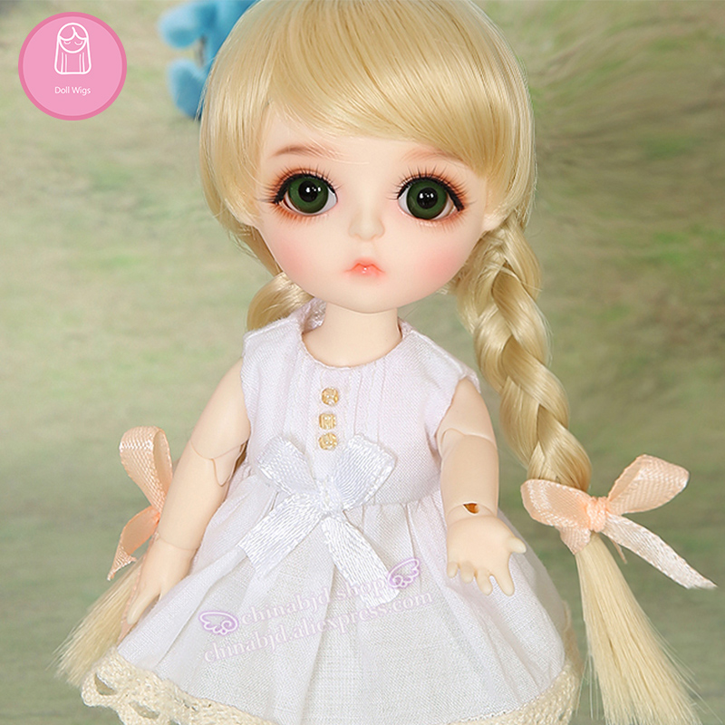 Wig For BJD Doll Lovely hair all 1/8 Lovely-temperatureCurly Wigs doll Lovely Wig in beauty The princess hair L8-04#613color graceful short side bang fluffy natural wavy capless human hair wig for women