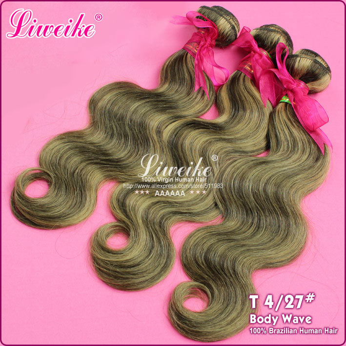 New fashion hair #4/27,Hot Sale,100% human hair,Wholesale Brazilian hair extension,12-26inch 1pc/lot,fast DHL free shipping