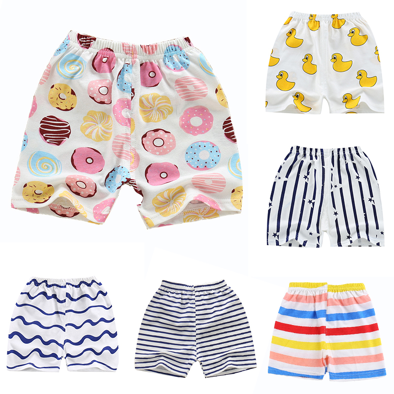 Kids   Shorts   For 0-2Y Children Summer Clothing Beach   Short   Cotton Candy Color Girls Boys Pants Clothes A100 Toddler Sport Wear