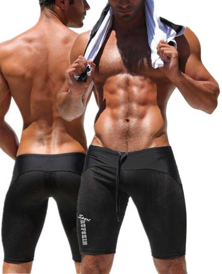 Sexy 2015 Shorts Men Mesh Running Shorts Brand Low Waist Trunks Gym Clothes Fitness Bodybuilding Polyester