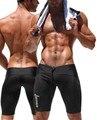 Sexy Pantalones Cortos de Los Hombres de Malla Cortos Ocasionales de la Marca Troncos de Cintura Baja de Los Hombres Ropa de Poliéster Spandex de Fitness y Culturismo Musculación