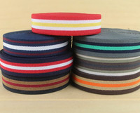 Wholesales 2 5cm Thick Stripe Elastic Polyester Webbing Tape Bag Straps Belt Waistband Webbing Upholstery Furniture