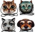 M402 Милые Животные Печати Кошка Взрыв Кошка Собака сумка Женская Сац Мягкая Посланник Сумки Малый Размер Девушке Подарок оптовая