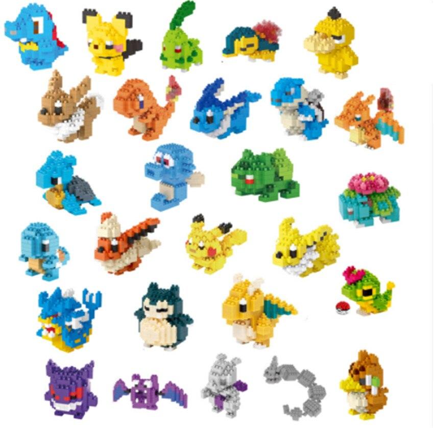 27 LNO action figures kawaii 3D Pikachu การ์ตูนอะนิเมะญี่ปุ่นอาคารพลาสติกอิฐเกม DIY ชุดของเล่นเพื่อการศึกษา-ใน บล็อก จาก ของเล่นและงานอดิเรก บน   1