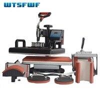 Wtsfwf 30*38CM 6 in 1 Combo Heat Press Printer 2D Sublimation Transfer Printer for Cap Mug T-shirts Plates Printing