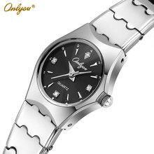 Onlyou Brand Luxury Ladies Dress Watches Women Quartz Watch Stainless Steel Gold Black Silver Wristwatches 30M Waterproof 8677