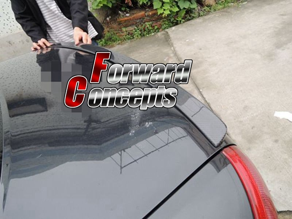 FOR CARBON FIBER 98-04 A6 RS6 C5 SEDAN AB STYLE REAR WING TRUNK SPOILER image