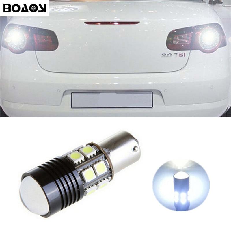 BOAOSI 1x Car 1156 BA15S LED 360 degree backup reverse light lamp Bulbs for VW Passat B1 B2 B4 B3 B5 B6 T4 T5 touran polo jetta 2pcs high quality superb error free 5050 smd 360 degrees led backup reverse light bulbs 1156 for vw eos