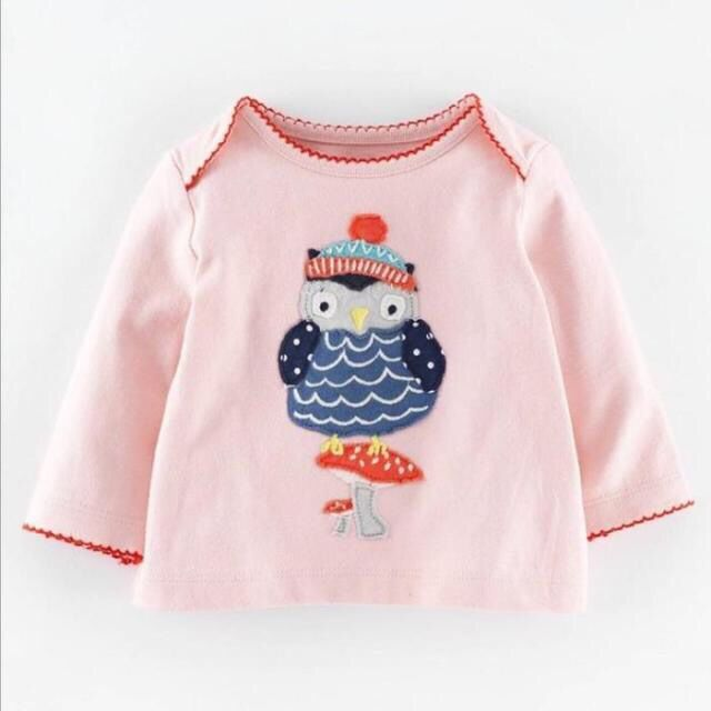 Tee-Tops T-Shirts Long-Sleeve Baby-Girls Children Kid Cute Gril Infant Owl
