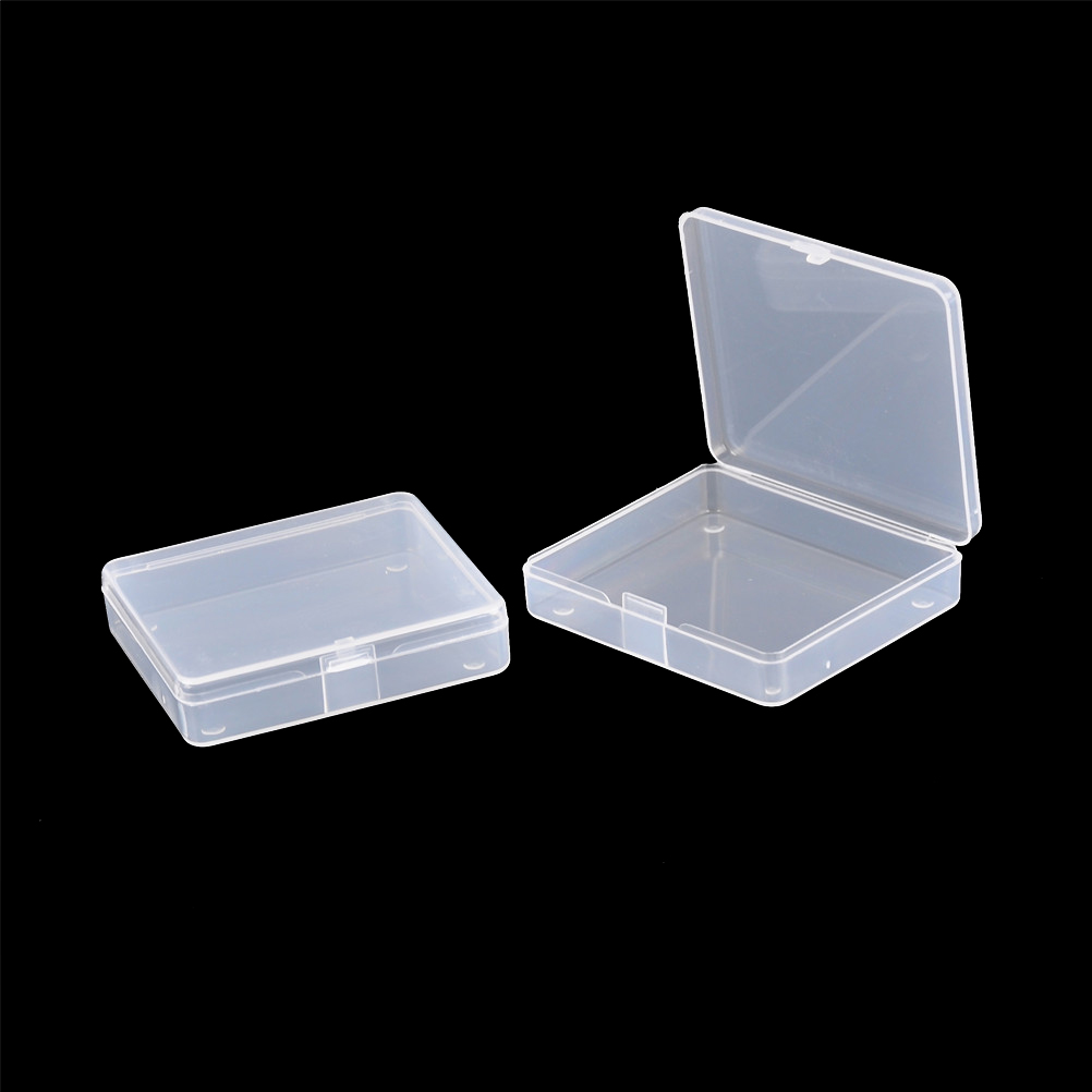 2pcs Transparent Toolbox Electronic Plastic Parts Container