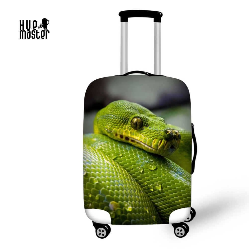 Travel Accessories Luggage Case Cover Suitcase Protective Covers Reality Snake a Cover for Suitcase Luggage Cover For 18-30 Case цена