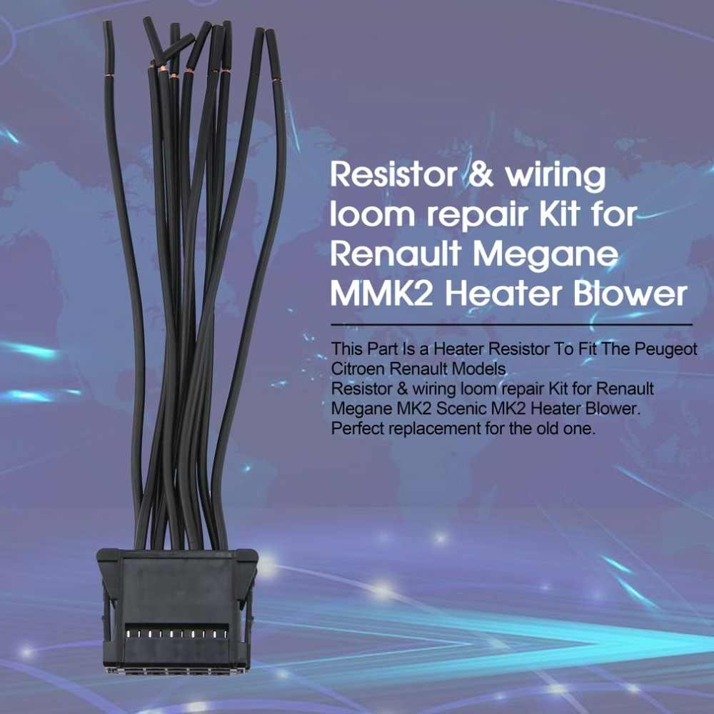 high quality resistor and wiring loom repair kit for renault megane mk2 scenic mk2 heater blower [ 1000 x 1000 Pixel ]