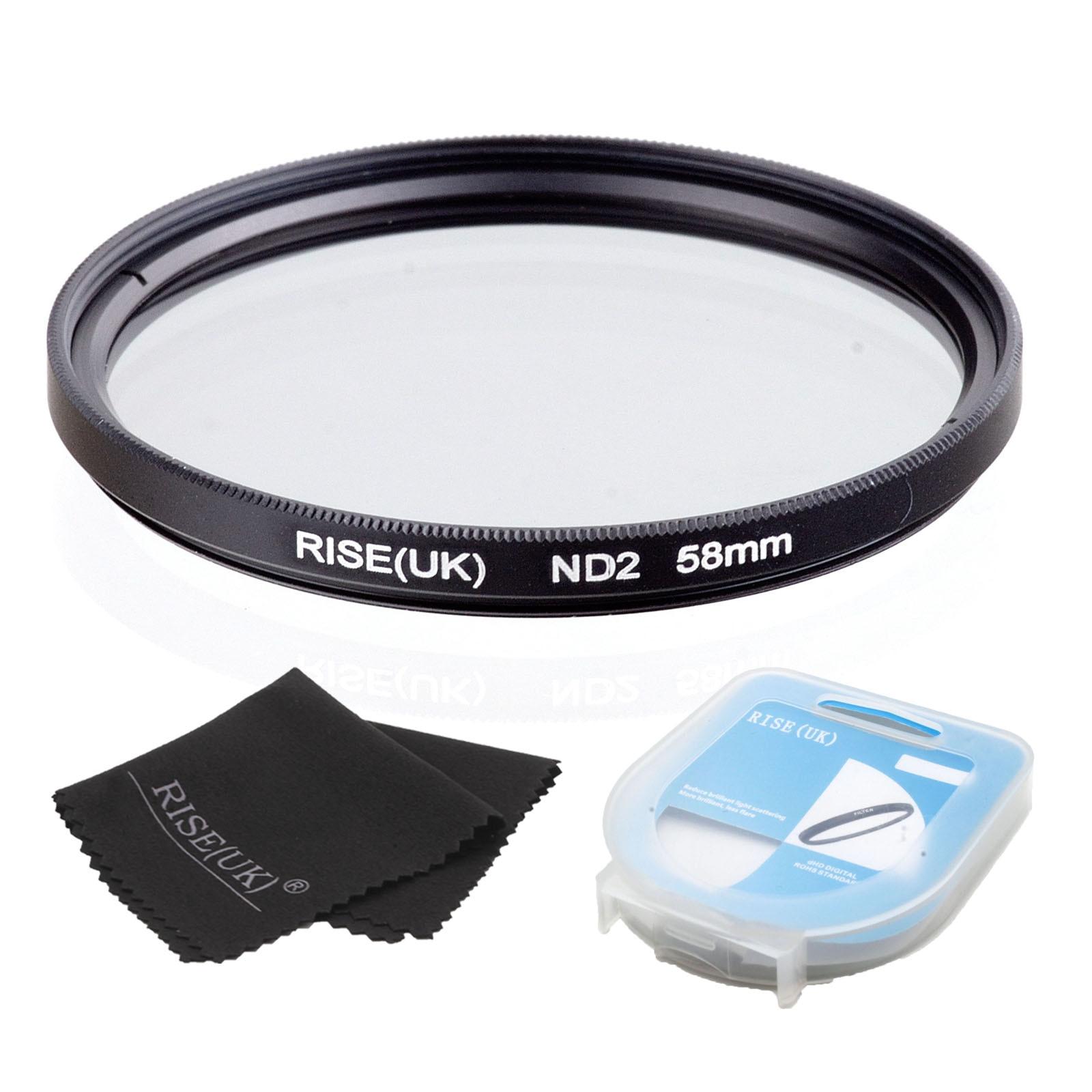 ツ)_/¯Rise (UK) 58mm densidad neutra ND2 filtro para toda la lente ...