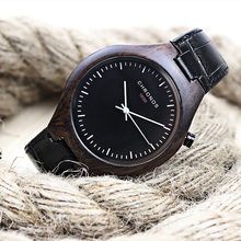 Bamboo Men Watches CHRONOS Fashion Quartz Watch Genuine Leather Wristwatch Mens Clock Casual Hour Relogio Masculino Montre Homme