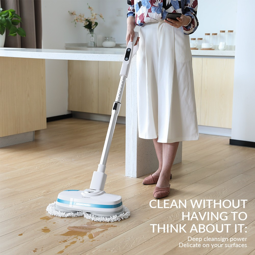 ALBOHES MOP860 Cordless Dual Spin Electric Mop Floor Cleaner Spray Wax Mop Flexible Cleaning Appliances With For Wet&Dry Use philips brl130 satinshave advanced wet and dry electric shaver