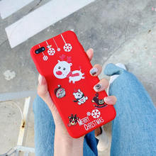 For iPhone 7 4.7 inch Christmas Tree Deer Santa Claus Snowflak Protective iPhone5S SE 6 6S 8 Plus XS Max XR Phone Shell