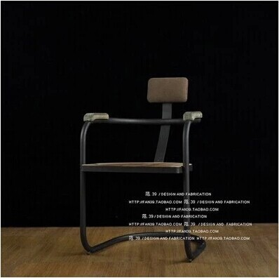 American country to do the old retro bar, wrought iron furniture dinette antique wood chair parlor chair Specials