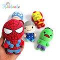 5 unids/set 12 cm El Vengador Muñecas de la Felpa Pequeño Colgante de Iron man Spiderman Capitán América Llavero de Juguete de Felpa