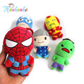 5pcs/Set 12cm The Avenger  Plush Dolls Small Pendant  Iron man Spiderman Captain America  Plush Toy KeyChain