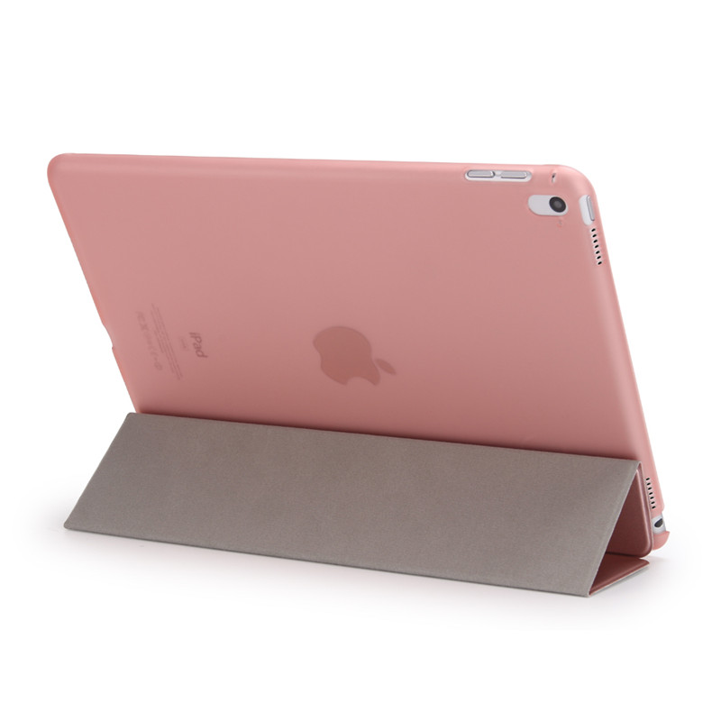 Redlai Ultra Slim Magnetic Front Smart Cover With Matte Transparent Plactic Back Skin Case For Ipad Pro 9.7 Inch