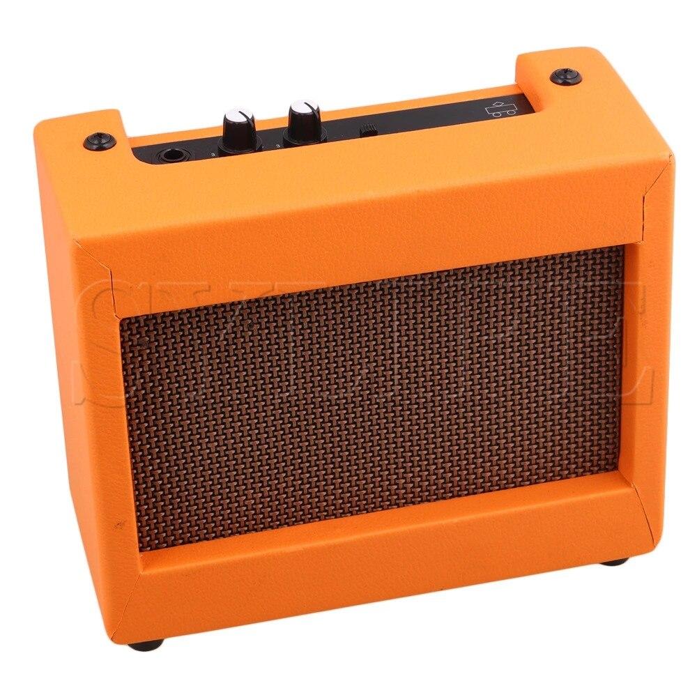 Plastic Orange Guitar Amplifier 9V/5W Portable Small Guitar Loudspeaker aroma ag 03m 5w guitar amp recorder speaker tf card slot compact portable multifunction guitar amplifier usb data line