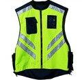 Езда светоотражающий жилет безопасности отражающей куртка ветрозащитный Fluorescent yellow and orange M-XL настроить логотип печати V120026