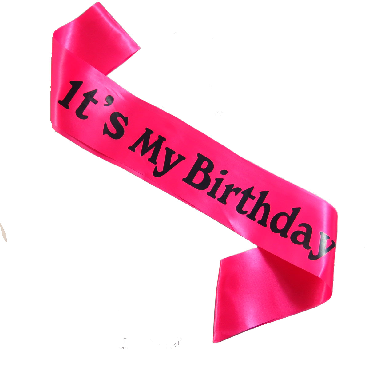 IT/'S ITS MY BIRTHDAY Party HOT PINK /& BLACK Sash for A Happy Birthday Diamante