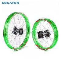 green Front 16*17 1.60x17 Rear 1.85x14 1.85x14 inch aluminium Alloy Rim For 160cc 150CC Dirt Pit bike 14 17 inch wheel